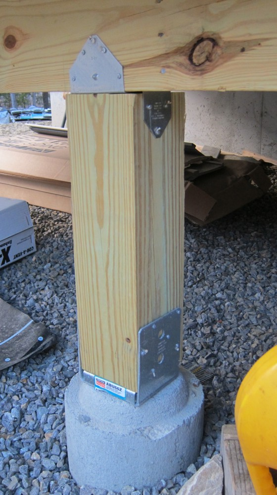 How To Install A Deck Post Ask The Builder