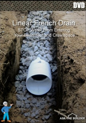 Click Here To Order Tim S Dvd With The Step By Procedure For Installing A Linear French Drain And Keeping Your Basement Dry