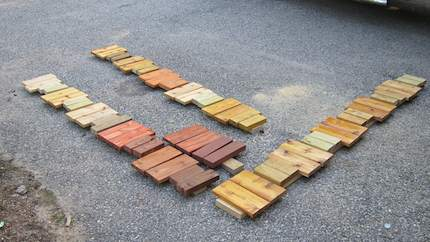Deck Stain Sample Test Pieces