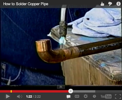 How to Solder Copper Pipe Video Thumbnail