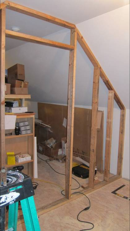 how to build a climbing wall in your attic
