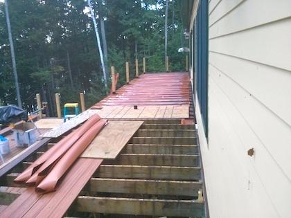 TIm's deck under construction