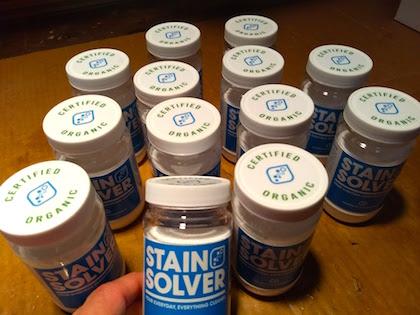 stain solver sample bottle