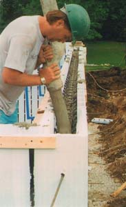 Insulated concrete forms ask the builder for Insulated concrete foam