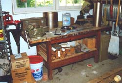 You are looking at my garage workbench. It is so strong, I think it could possibly support 2,000 pounds or more. The shelf below helps make it very stable.