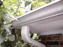 Spruce up your faded aluminum gutters or change the color. Simply paint them!
