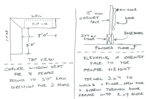 Window Seat Design Plans