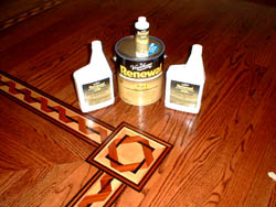 These simple liquids may save you time and money.  They also extend the useful life of the wood floor.