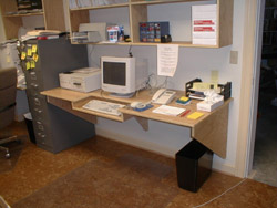 maximize small home office space - ask the builder Small Office Space