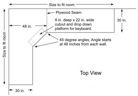 built in corner desk plans