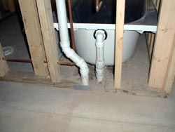 Wet Vent a tub through lav drain? - Love Plumbing  Remodel of