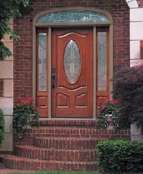 This is a fancy fiberglass door. There are thousands of possible combinations of wood grain, color, glass options, etc. I guarantee you will find one that will look perfect for your home.