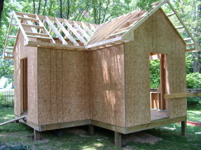 this shed roof has three basic roof framing components standard rafters a hip