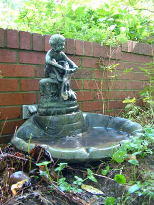 This Smaller Outdoor Fountain Is A Center Point Near Our Lower Patio. Its  Gentle Flow
