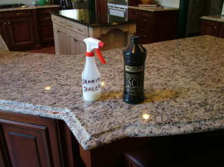 Granite sealers are easy to apply. Several thin coats provide the best protection. PHOTO CREDIT: Tim Carter