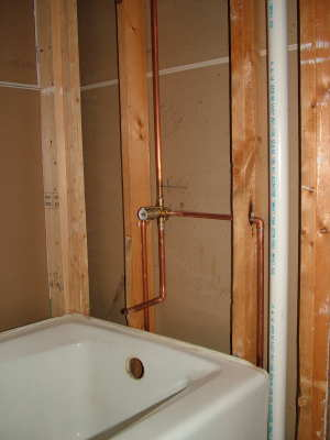 This Is What A Tub And Shower Faucet Looks Like Undressed. Not Much To It