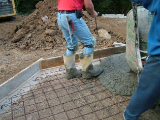 Pouring Concrete Can Be Hard Work Each Wheelbarrow Load Weigh Hundreds Of Pounds