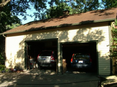 This garage gets very hot in the summer and it is directly beneath a large shade tree. PHOTO CREDIT: Tim Carter