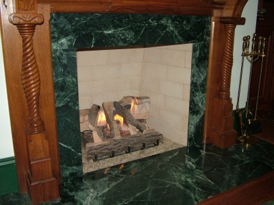 This Is A Real Wood Burning Fireplace But The Cur Fuel Source Natural Gas