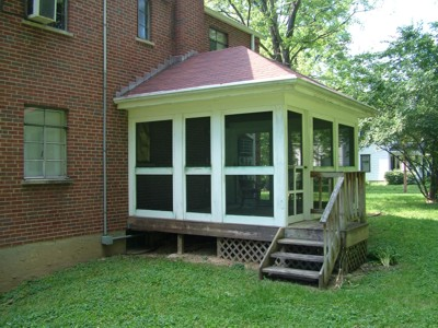 This screened-in porch needs a paint job, but its design is perfect. I know as the owner still compliments me 20 years after I built it.  PHOTO CREDIT: Tim Carter