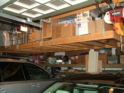 garage shelf plans ceiling