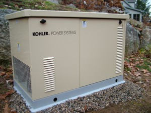 This standby generator is ready to start up on its own as soon as there's a power outage. It's powerful enough to run much of a regular house. PHOTO CREDIT:  Tim Carter