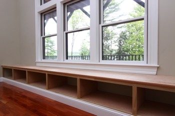 This window seat just needs a couple of coats of paint and it's ready for cushions, books and cheeks. PHOTO CREDIT: Brent Walter