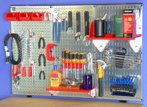 This pegboard is doing a good job of keeping tools organized and off the workbench. PHOTO CREDIT:  Tim Carter