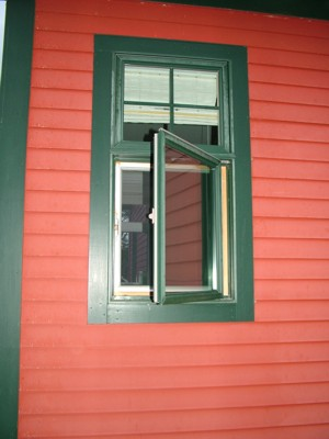 This casement window operates just like a standard door. It pivots on hinges that are on one of the vertical jambs. PHOTO CREDIT:  Tim Carter