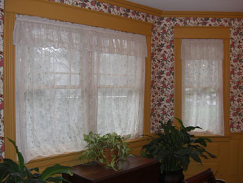 These simple window coverings were made by my wife in an afternoon. PHOTO CREDIT: Tim Carter