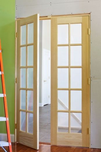 Interior french doors add flair and light easy diy for Interior double doors
