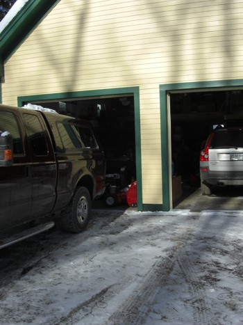 condensation causes two car garage