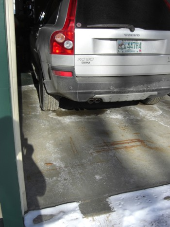 Cars can bring in snow that melts into gallons of water packed onto the undercarriage of the vehicle. This liquid water easily condenses on the cold surfaces of the garage. PHOTO CREDIT:  Tim Carter