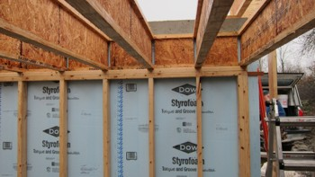 Attractive The Rigid Foam Insulation Is Placed Between The Stud Wall And The  Foundation Wall. Photo