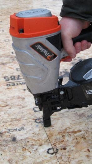 Here's a great air-powered framing nail gun.  Photo Credit: Tim Carter