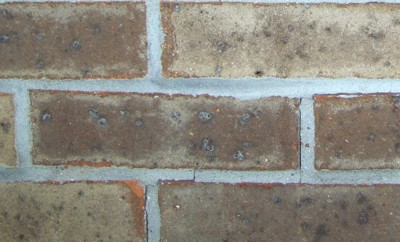 Note the small vertical crack next to the center brick. PHOTO CREDIT: Roger Henthorn