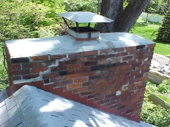 Don't end up with a chimney repair that looks like this!