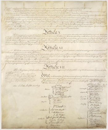 The signers of the Constitution of the United States.